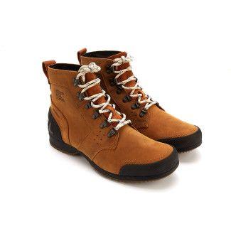 Men's Lace Up Outdoor Ankle Boots SOREL Ankeny MID Hiker ELK/BLK
