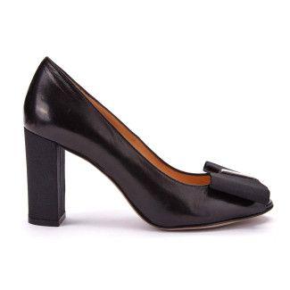 Women's Peep Toe Pumps Apia Irene 27 Nappa Nero