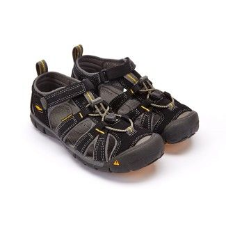 Kid's Sandals KEEN Seacamp II CNX Black/Yellow