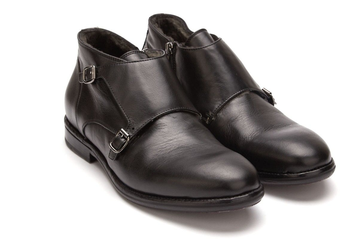 8c205f600cc3 Men s Monk-Strap Boots REDWOOD 14314 Antos Nero - APIA FI