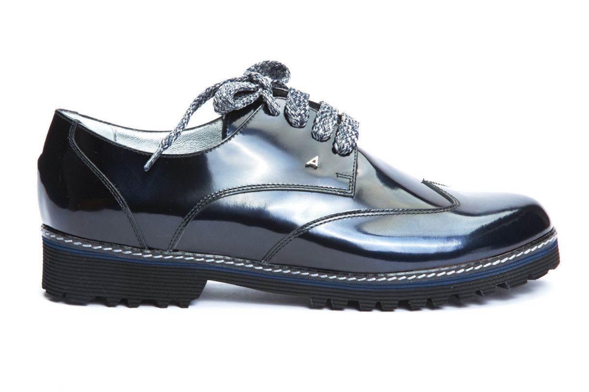 Women's Derby Shoes APIA Viro Metal Blu