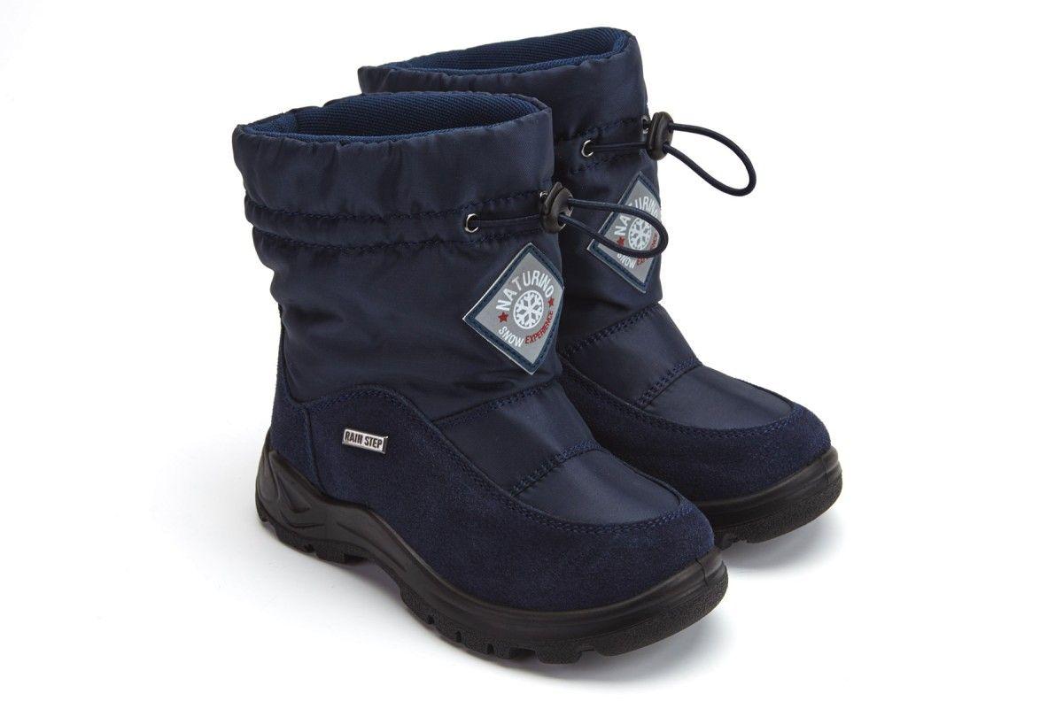 Kid's Boots NATURINO Varna Blue Vel/Nyl