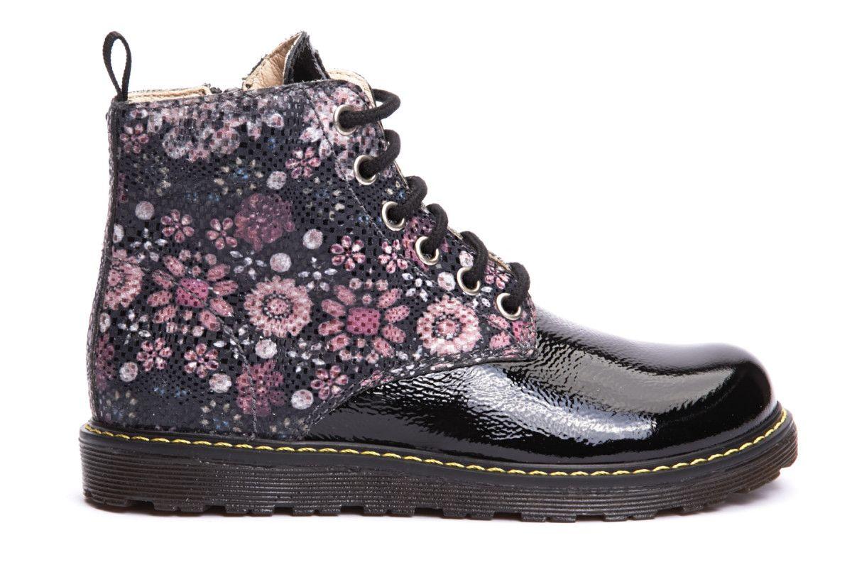 Kid's Ankle Boots NATURINO 3745 Diamond Nero/MultiI