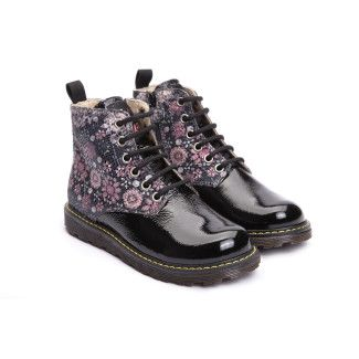 Kid's Ankle Boots NATURINO 3745 Diamond Nero/MultiI