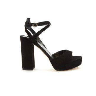 Women's Platform Sandals APIA Gadana Suede Black