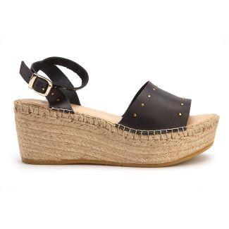 Women's Platform Sandals APIA Plato Negro