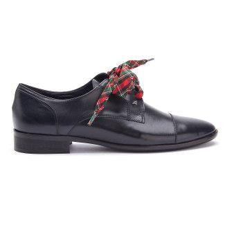 Women's Lace Up Shoes APIA Elena 01 Vitello Blu