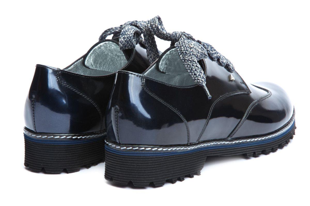 Women's Derby Shoes APIA Viro Metal Blu