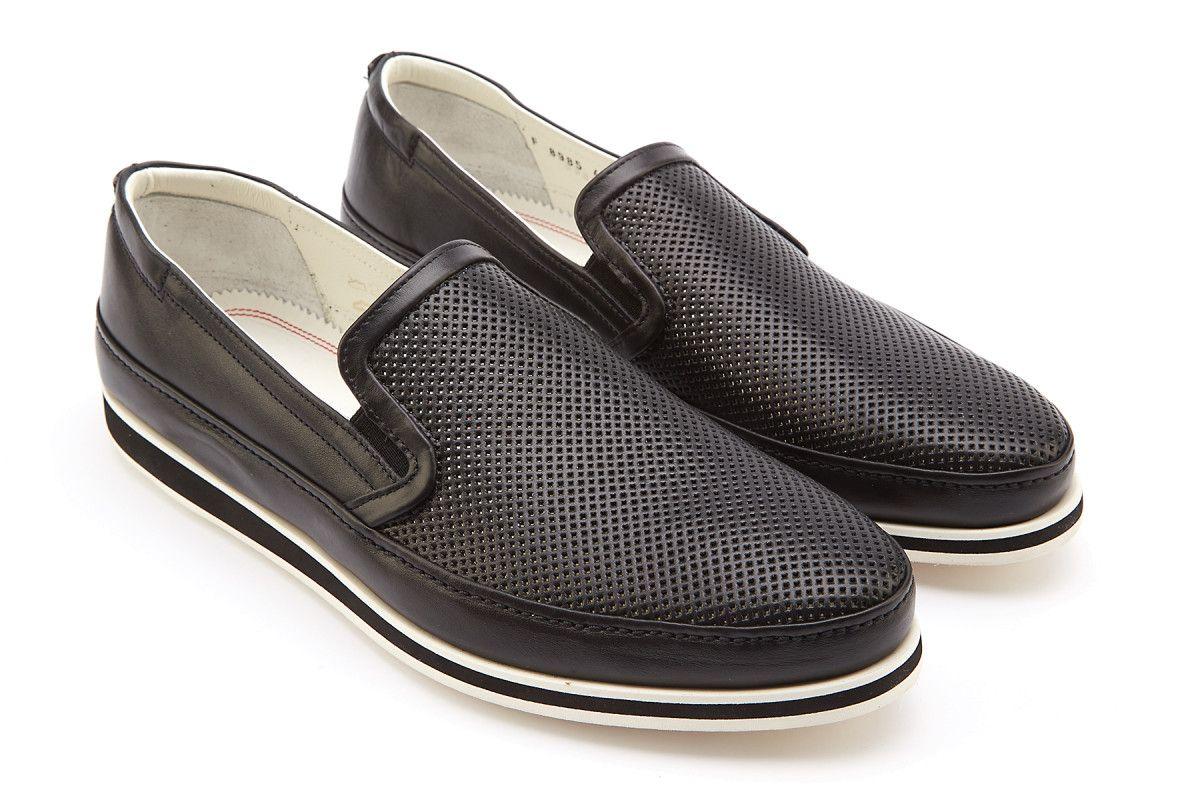 Men's Slip On Sneakers FABI FU8985 Nero ...