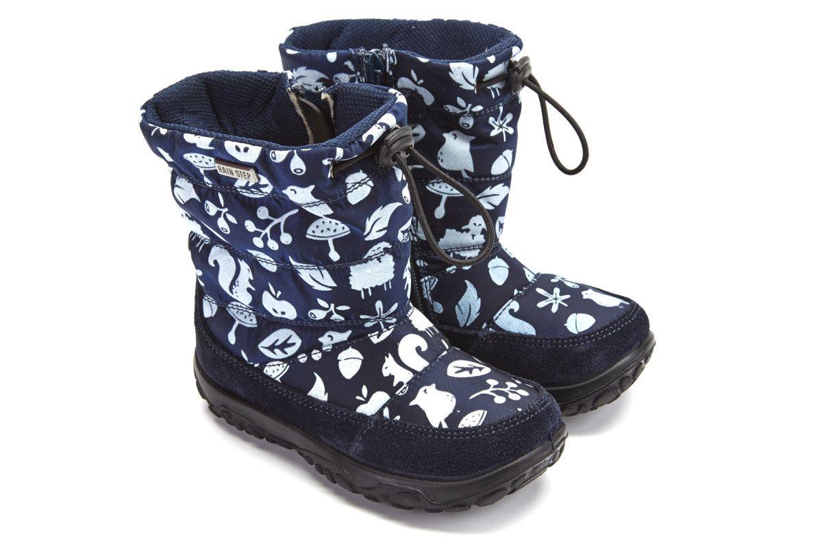 Kid's Insulated Boots NATURINO Poznur Vel./Tech Bosco Blu