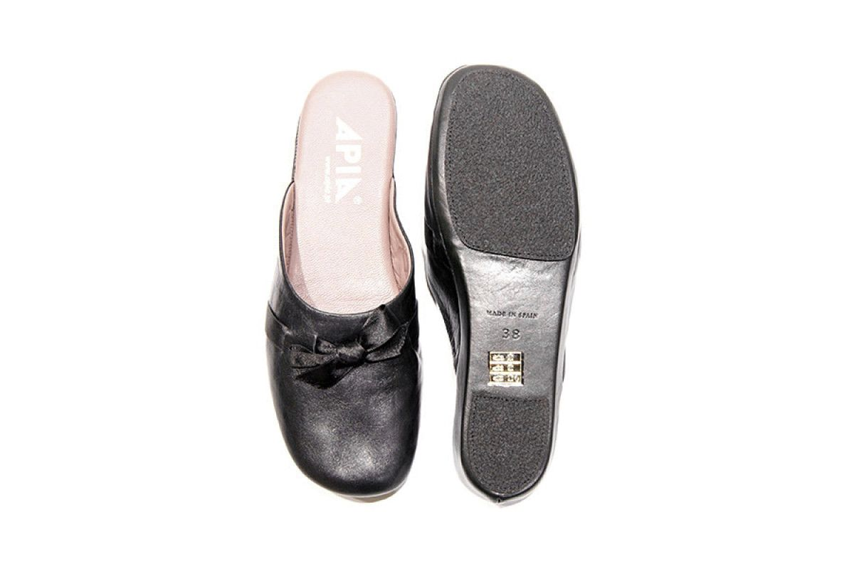 Women's Slippers Apia 15220 Nappa Negro