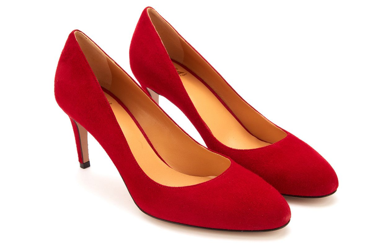 Women's Pumps Red High Heels APIA Basia P Rosso