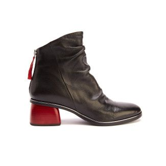 Ankle Boots Joanna Nero/Rosso-000-012575-20