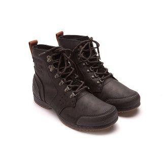 Men's Lace Up Boots SOREL Ankeny Mid Hike Black
