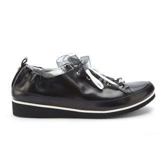 Sneakers Pulia Nappa Nero-000-012129-20