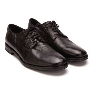 Men's Derby Shoe APIA Oporto 01 Ginger Nero