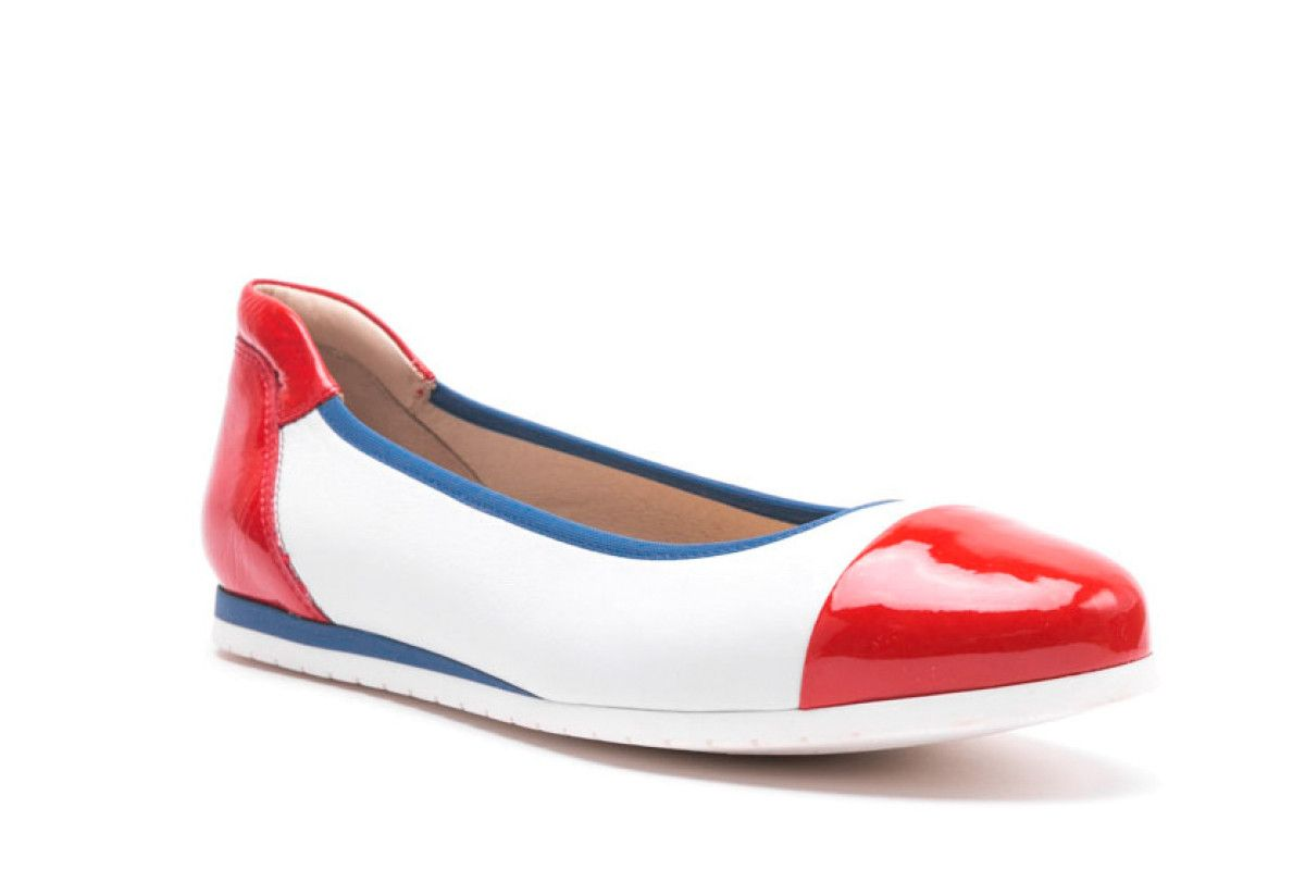 Women's Ballet Pumps Apia 3242 Rosso/Bianco/Navy
