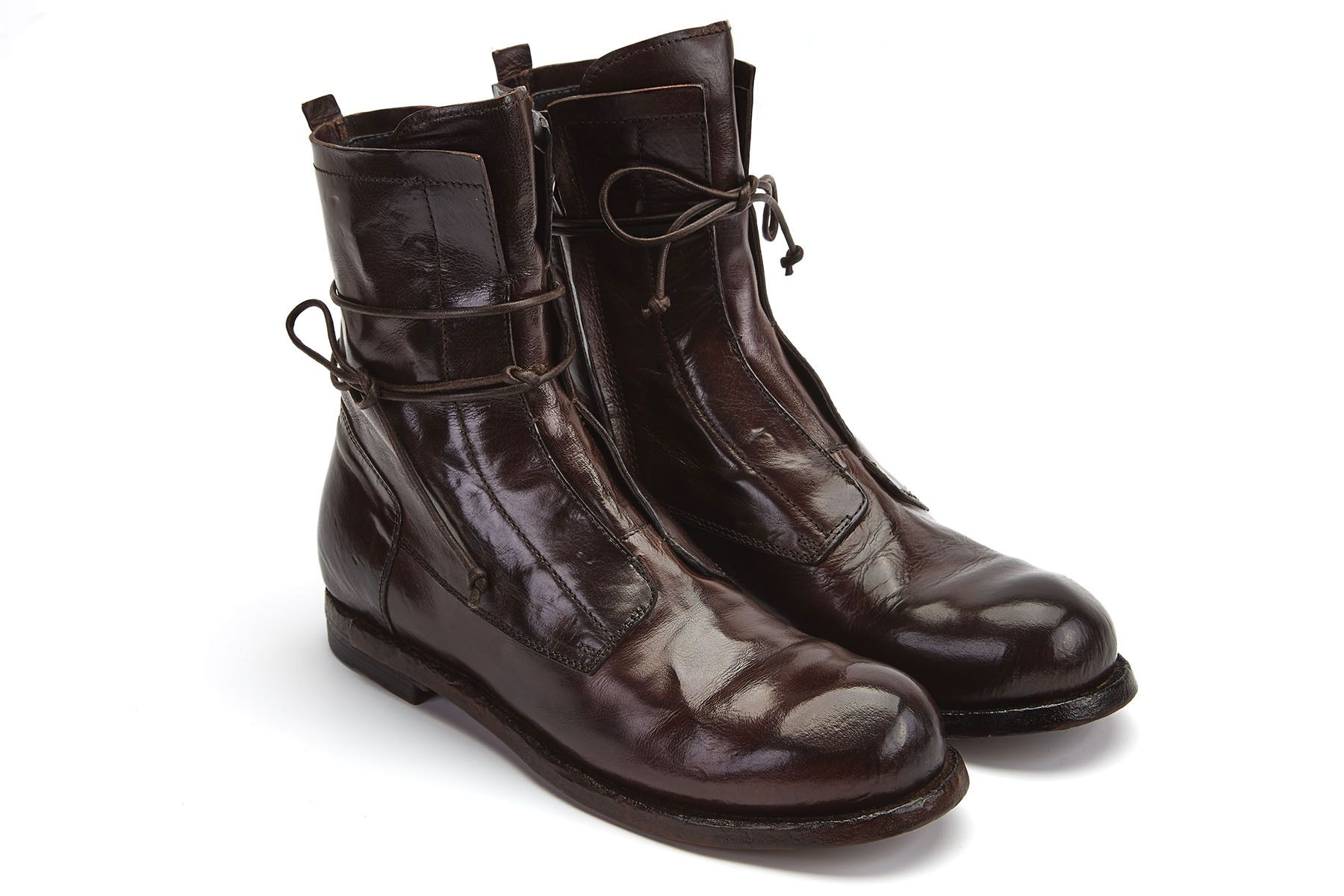 Beautiful Officine Creative Lace-up Ankle Boots In Black   Lyst
