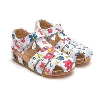 Sandals Alby Flower White-001-002110-20