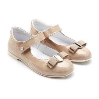 Ballet Pumps 4891 Vernice Beige-001-001058-20