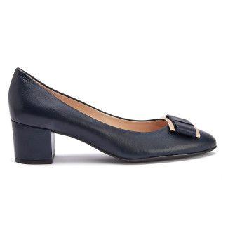 Block Heel Pumps 8-104080 Blue-001-001577-20