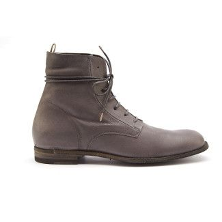 Lace Up Boots Plaine 001 Grigio-000-012209-20
