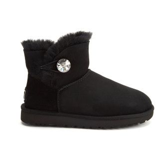 Insulated Boots Mini Bailey Button Bling Blk-001-000801-20