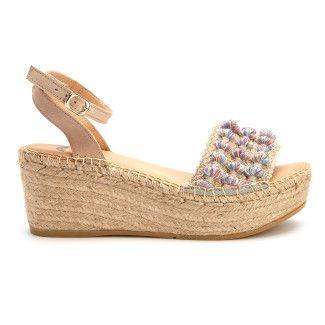 Platform Sandals Plato Azul/Beige-000-012442-20