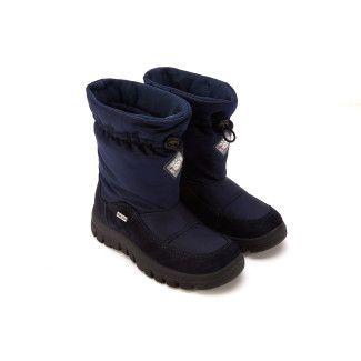 Insulated Boots Varna Vel/Nyl Bleu-001-001288-20