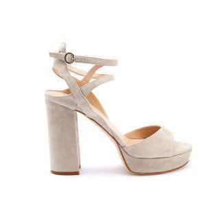 Platform Sandals Gadana Suede Sand-001-001024-20