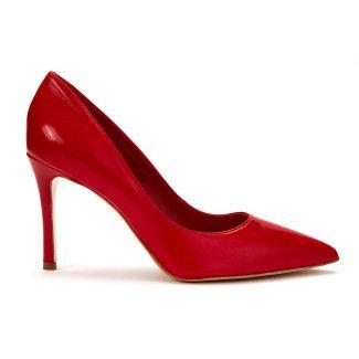 Women's Pumps High Heels ICONE 6008 Vitello Rosso
