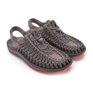 Men's Sport Sandals KEEN UNEEK Flat Gargoyle/Orange