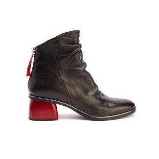 Women's Ankle Boots APIA Joanna Nero/Rosso