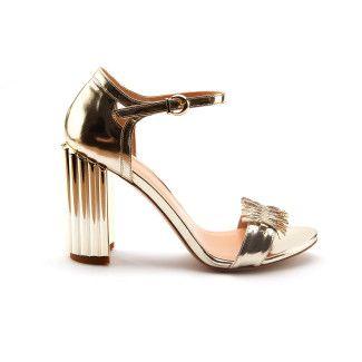 Women's Block Heel Sandals APIA Napoli Platino