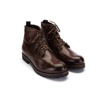 Men's Insulated Lace Up Ankle Boots APIA Merino Espresso
