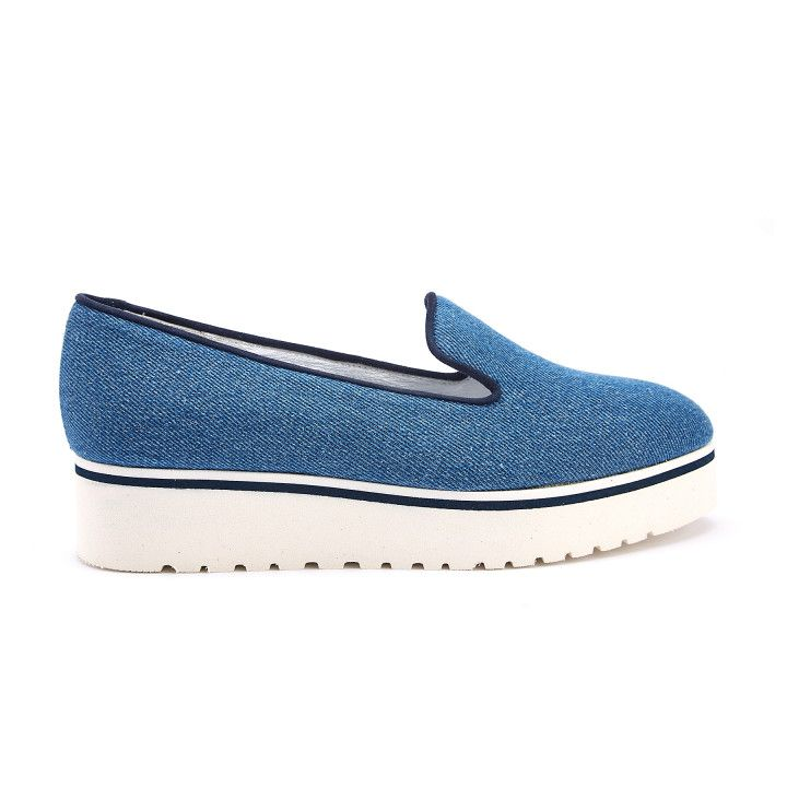 Slip-On Shoes Moclight Tessuto Jeans-000-012133-20