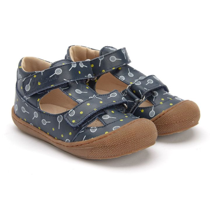 Sandals Puffy Navy/Bianco/Giallo-001-001779-20