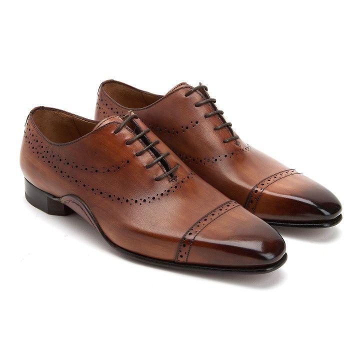 Lace Up Shoes 518 Calf Brandy-001-001901-20