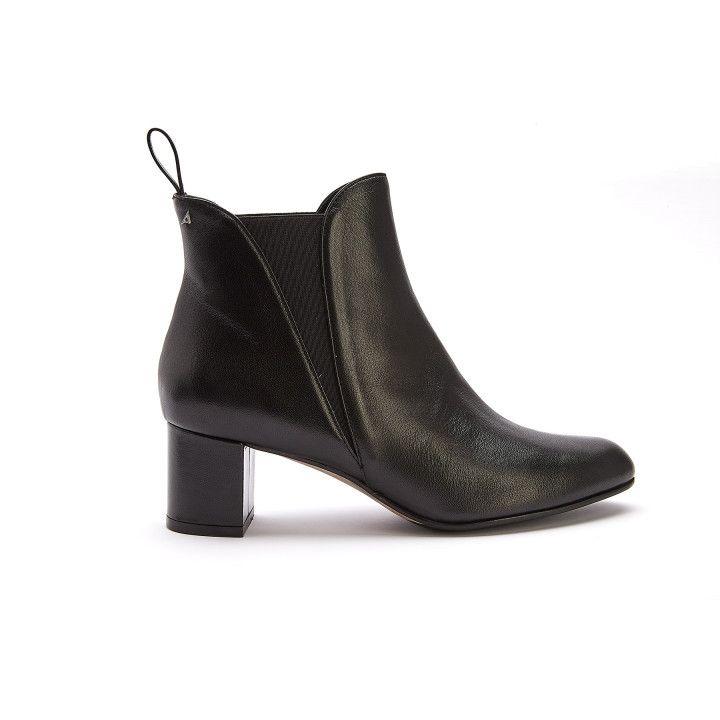 Women's Platform Chelsea Boots APIA Valeria 02 Nap. Nero