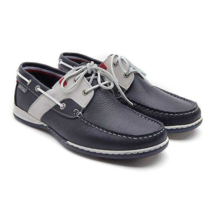 Boat Shoes Nautic Navy/Grey/Red-000-012746-20