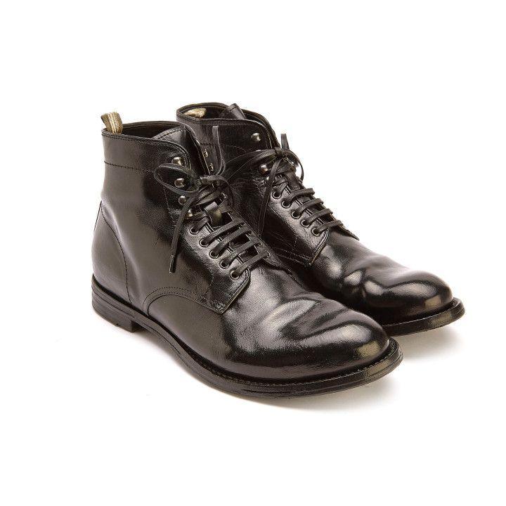 Lace Up Boots Anatomia 13 Nero-000-012382-20