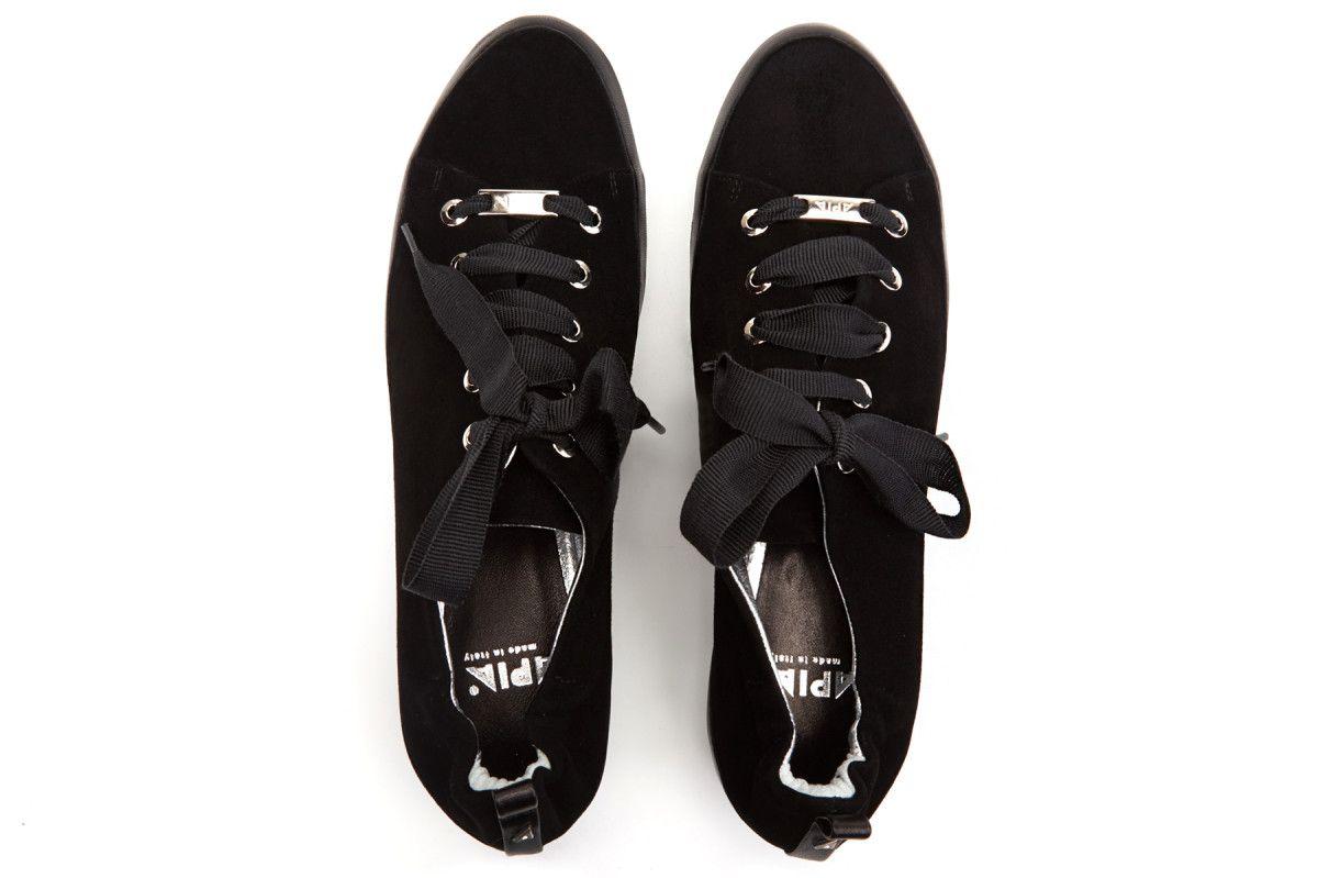 Women's Sneakers APIA Pulia Camoscio Nappa Nero