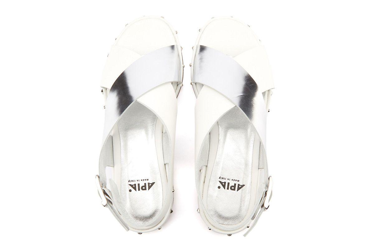Women's Sandals APIA Pisa Calf Bianco