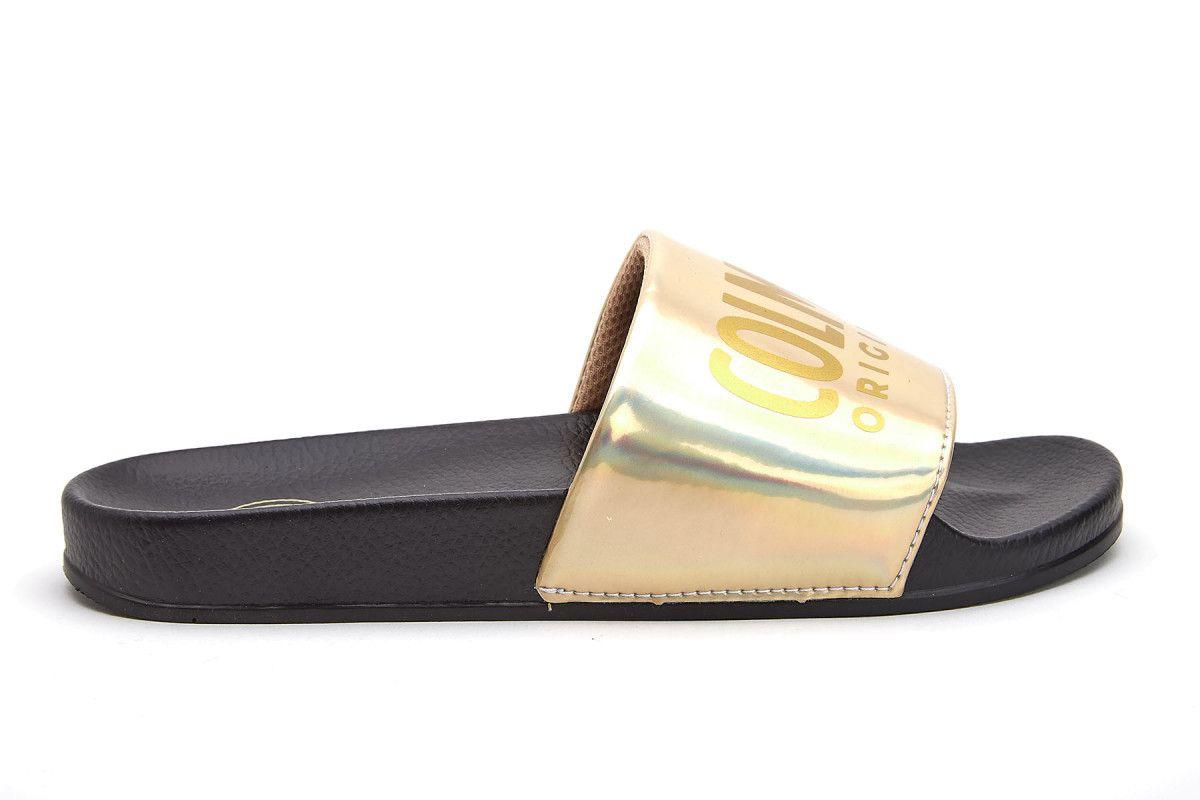 Women's Mules COLMAR Slipper Lux 609 Blk/Gold   Apia
