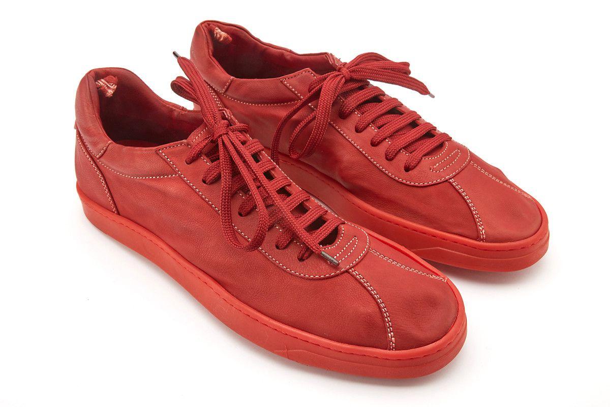 Men S Sneakers Officine Creative Karma 001 T Rosso