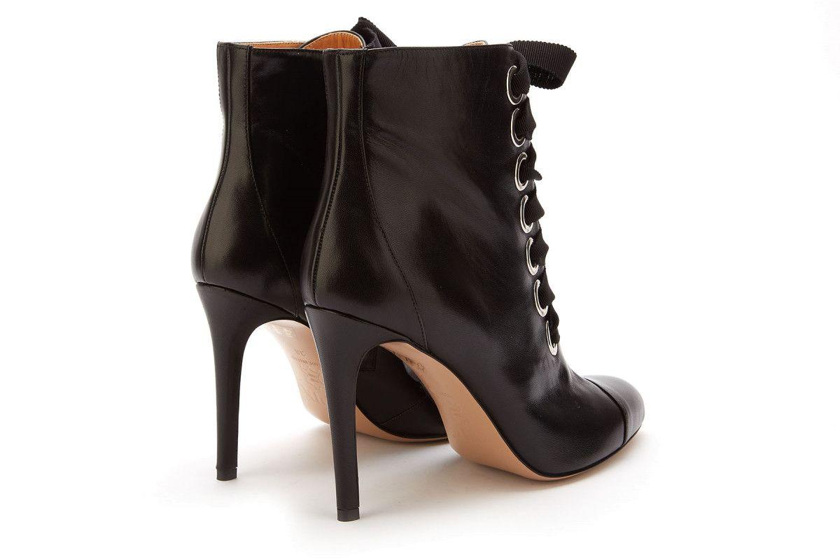 Women's Heeled Ankle Boots APIA Monika G Nero/Silver