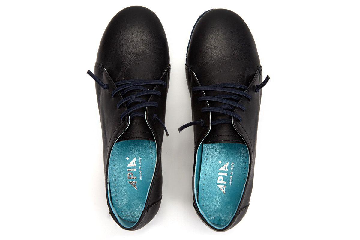 Women's Shoes APIA Calapia Calf Nero Laccio Blu
