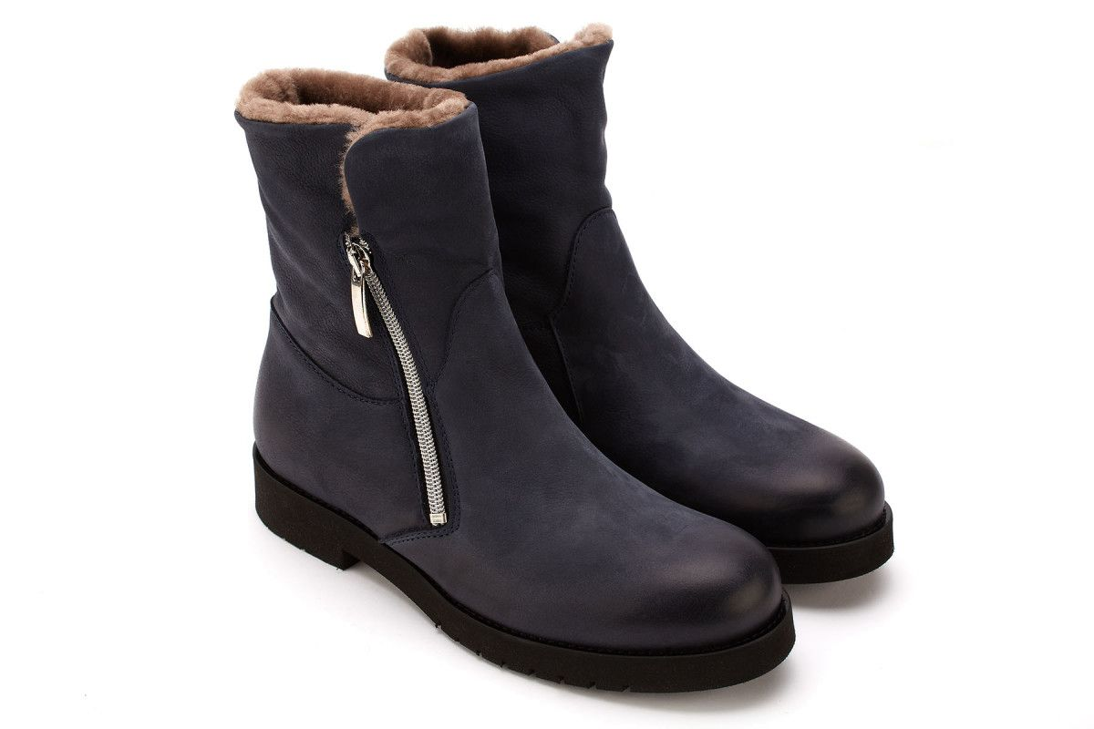 Women's Insulated Ankle Boots APIA Atina Navy