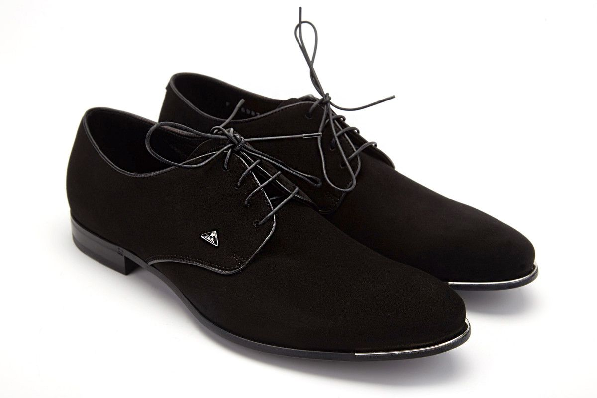 Men's Derby Shoes Fabi 6987 Velukid Nero