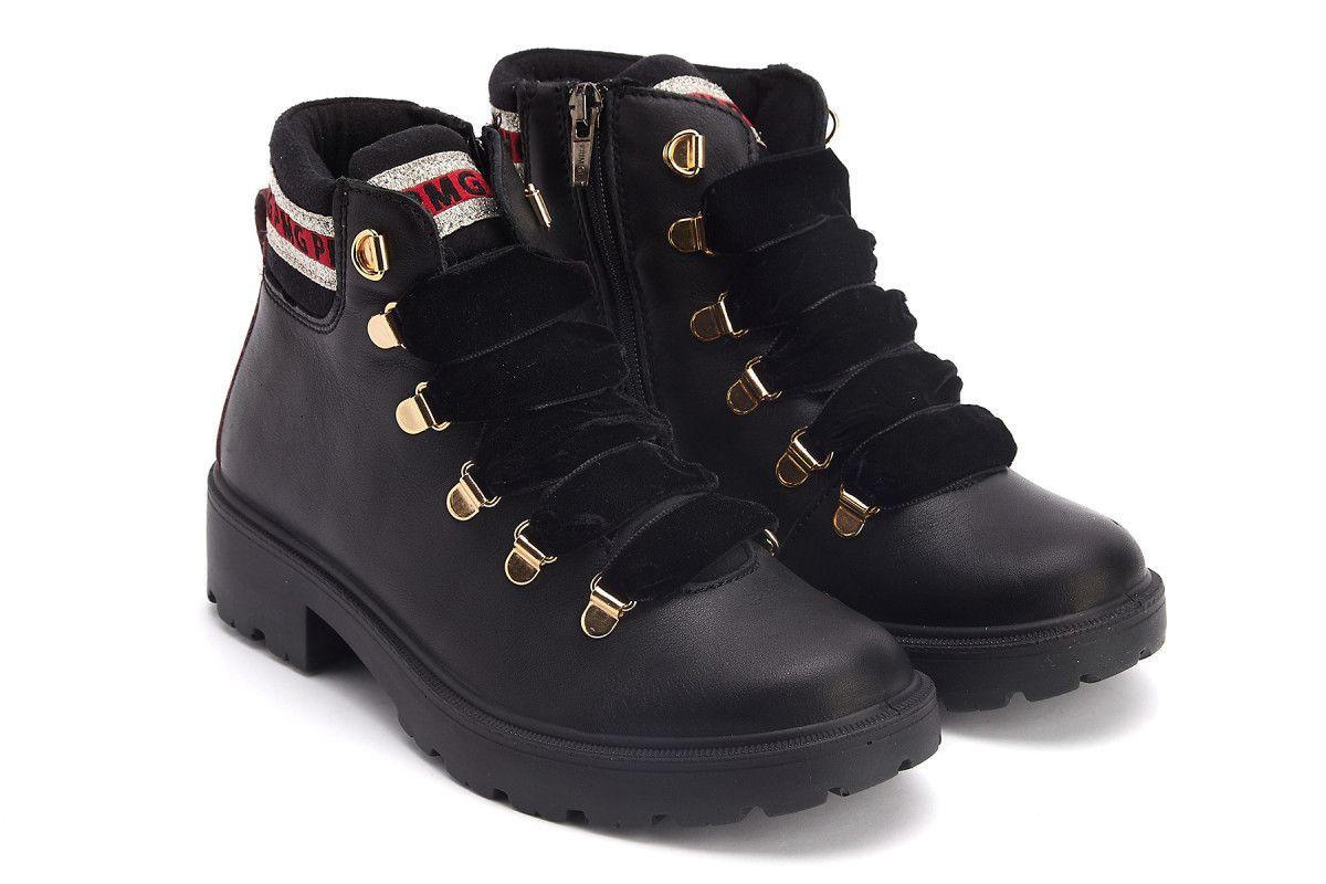 Lace Up Ankle Boots PRIMIGI 4378000 Nero